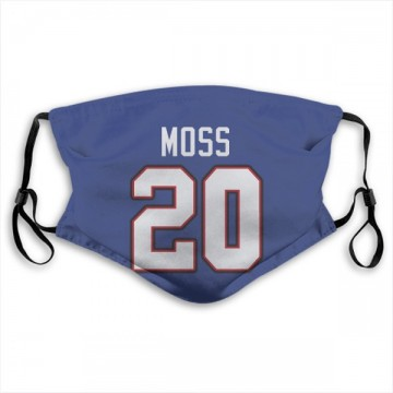 Buffalo Bills Zack Moss Royal Blue Jersey Name & Number Face Mask