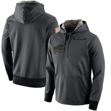 Men's Nike Buffalo Bills Anthracite Salute to Service Player Performance Hoodie -