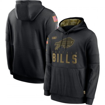 Men's Nike Buffalo Bills Black 2020 Salute to Service Sideline Performance Pullover Hoodie -