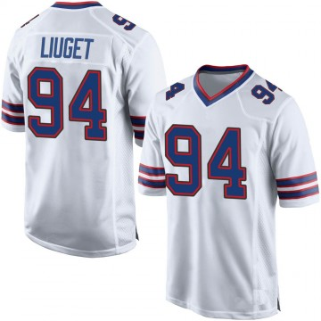 Men's Nike Buffalo Bills Corey Liuget White Jersey - Game