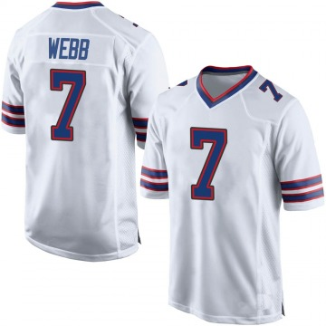 Men's Nike Buffalo Bills Davis Webb White Jersey - Game