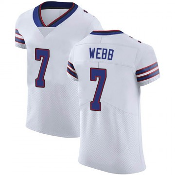 Men's Nike Buffalo Bills Davis Webb White Vapor Untouchable Jersey - Elite