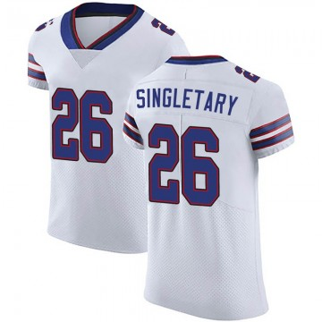 Men's Nike Buffalo Bills Devin Singletary White Vapor Untouchable Jersey - Elite