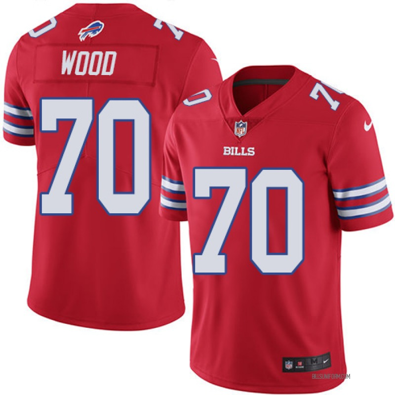 39c721f6 Men's Nike Buffalo Bills Eric Wood Red Color Rush Jersey - Limited