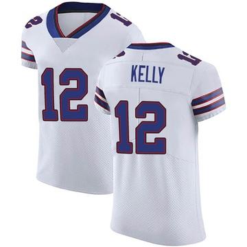 Men's Nike Buffalo Bills Jim Kelly White Vapor Untouchable Jersey - Elite