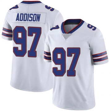Men's Nike Buffalo Bills Mario Addison White Color Rush Vapor Untouchable Jersey - Limited