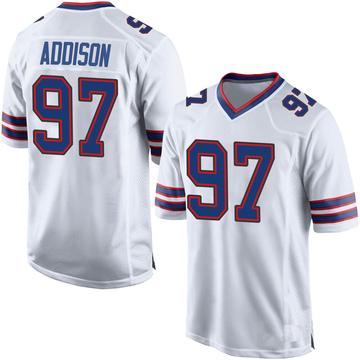 Men's Nike Buffalo Bills Mario Addison White Jersey - Game