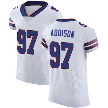 Men's Nike Buffalo Bills Mario Addison White Vapor Untouchable Jersey - Elite