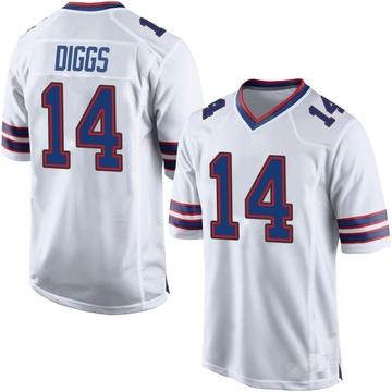 Men's Nike Buffalo Bills Stefon Diggs White Jersey - Game