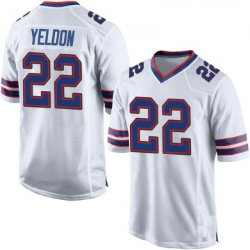 Men's Nike Buffalo Bills T.J. Yeldon White Jersey - Game