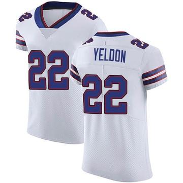 Men's Nike Buffalo Bills T.J. Yeldon White Vapor Untouchable Jersey - Elite
