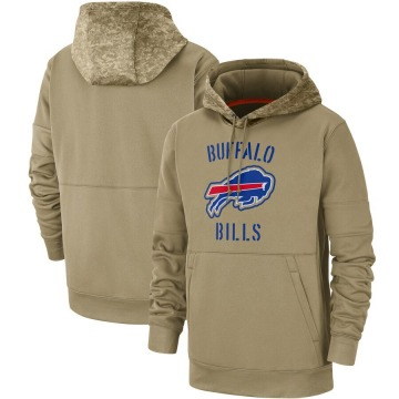 Men's Nike Buffalo Bills Tan 2019 Salute to Service Sideline Therma Pullover Hoodie -