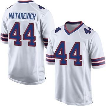 Men's Nike Buffalo Bills Tyler Matakevich White Jersey - Game