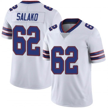 Men's Nike Buffalo Bills Victor Salako White Color Rush Vapor Untouchable Jersey - Limited