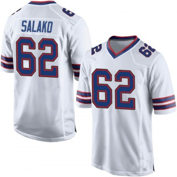 Men's Nike Buffalo Bills Victor Salako White Jersey - Game