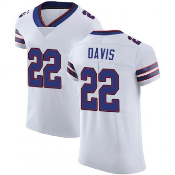 Men's Nike Buffalo Bills Vontae Davis White Vapor Untouchable Jersey - Elite