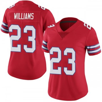 Women's Nike Buffalo Bills Aaron Williams Red Color Rush Vapor Untouchable Jersey - Limited