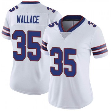 Women's Nike Buffalo Bills Abraham Wallace White Color Rush Vapor Untouchable Jersey - Limited