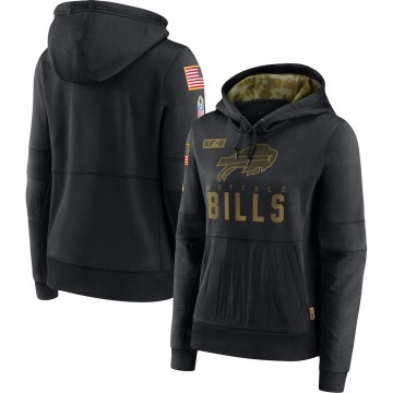 Women's Nike Buffalo Bills Black 2020 Salute to Service Performance Pullover Hoodie -