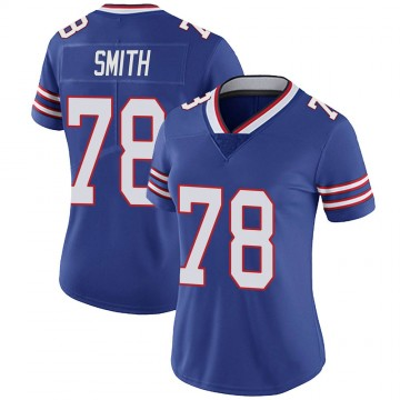 Women's Nike Buffalo Bills Bruce Smith Royal Team Color Vapor Untouchable Jersey - Limited