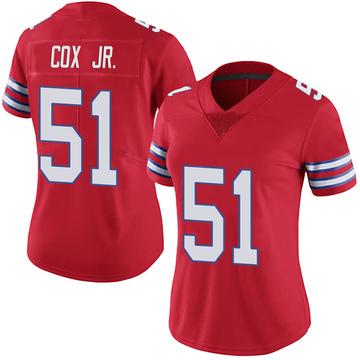 Women's Nike Buffalo Bills Bryan Cox Jr. Red Color Rush Vapor Untouchable Jersey - Limited