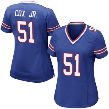 Women's Nike Buffalo Bills Bryan Cox Jr. Royal Blue Team Color Jersey - Game