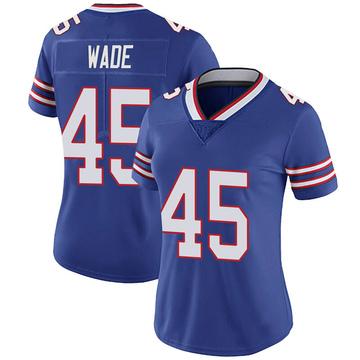 Women's Nike Buffalo Bills Christian Wade Royal 100th Vapor Jersey - Limited