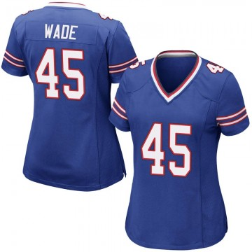 Women's Nike Buffalo Bills Christian Wade Royal Blue Team Color Jersey - Game