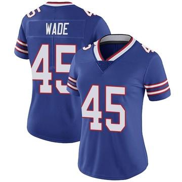 Women's Nike Buffalo Bills Christian Wade Royal Team Color Vapor Untouchable Jersey - Limited