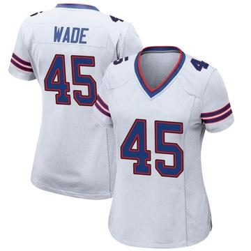 Women's Nike Buffalo Bills Christian Wade White Jersey - Game