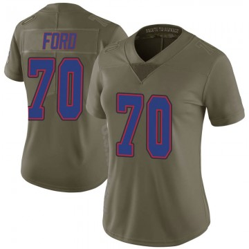 Women's Nike Buffalo Bills Cody Ford Green 2017 Salute to Service Jersey - Limited