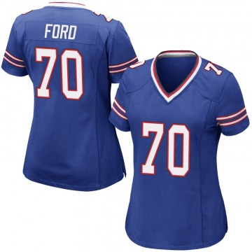 Women's Nike Buffalo Bills Cody Ford Royal Blue Team Color Jersey - Game