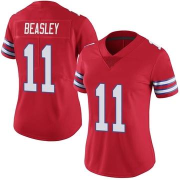 Women's Nike Buffalo Bills Cole Beasley Red Color Rush Vapor Untouchable Jersey - Limited