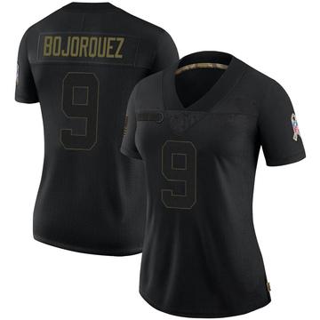 Women's Nike Buffalo Bills Corey Bojorquez Black 2020 Salute To Service Jersey - Limited