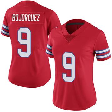 Women's Nike Buffalo Bills Corey Bojorquez Red Color Rush Vapor Untouchable Jersey - Limited