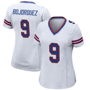 Women's Nike Buffalo Bills Corey Bojorquez White Jersey - Game