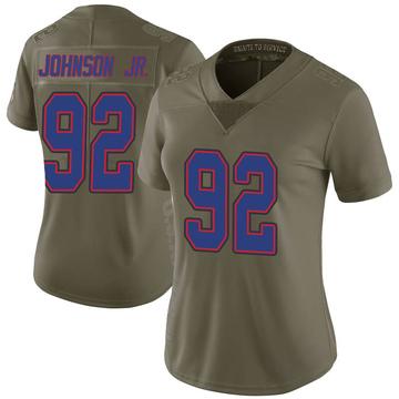 Women's Nike Buffalo Bills Darryl Johnson Jr. Green 2017 Salute to Service Jersey - Limited