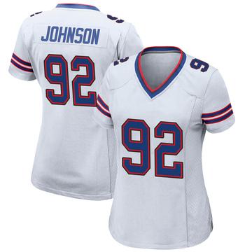 Women's Nike Buffalo Bills Darryl Johnson Jr. White Jersey - Game
