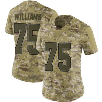 Women's Nike Buffalo Bills Daryl Williams Camo 2018 Salute to Service Jersey - Limited