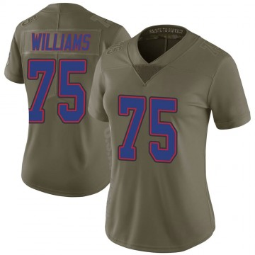 Women's Nike Buffalo Bills Daryl Williams Green 2017 Salute to Service Jersey - Limited