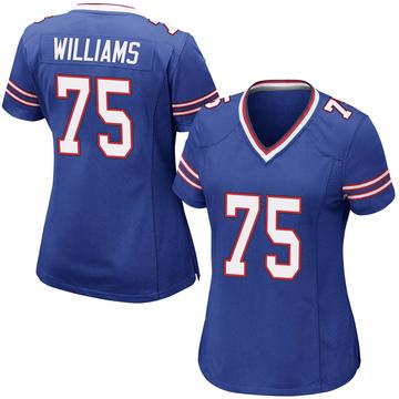 Women's Nike Buffalo Bills Daryl Williams Royal Blue Team Color Jersey - Game