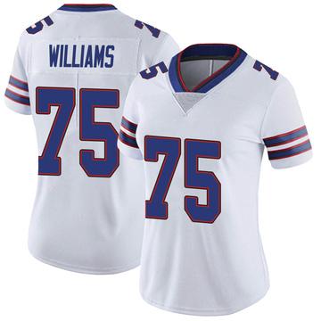 Women's Nike Buffalo Bills Daryl Williams White Color Rush Vapor Untouchable Jersey - Limited