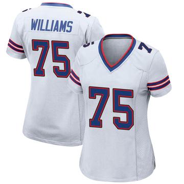 Women's Nike Buffalo Bills Daryl Williams White Jersey - Game