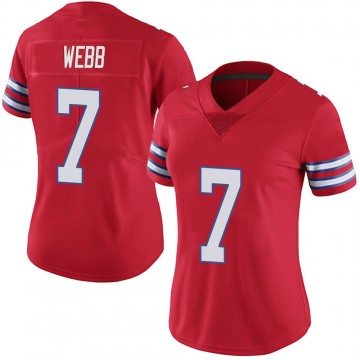 Women's Nike Buffalo Bills Davis Webb Red Color Rush Vapor Untouchable Jersey - Limited