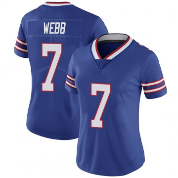 Women's Nike Buffalo Bills Davis Webb Royal 100th Vapor Jersey - Limited