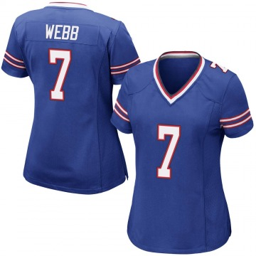 Women's Nike Buffalo Bills Davis Webb Royal Blue Team Color Jersey - Game
