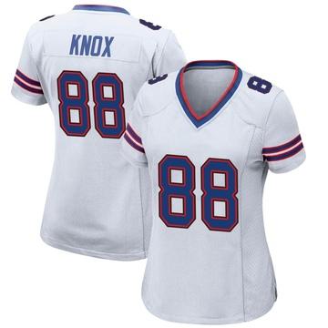 Women's Nike Buffalo Bills Dawson Knox White Jersey - Game