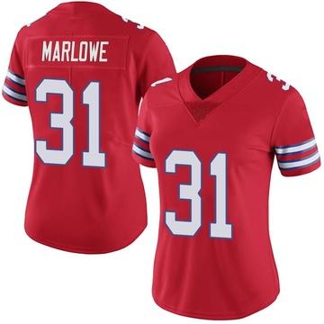 Women's Nike Buffalo Bills Dean Marlowe Red Color Rush Vapor Untouchable Jersey - Limited
