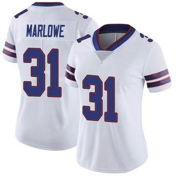 Women's Nike Buffalo Bills Dean Marlowe White Color Rush Vapor Untouchable Jersey - Limited
