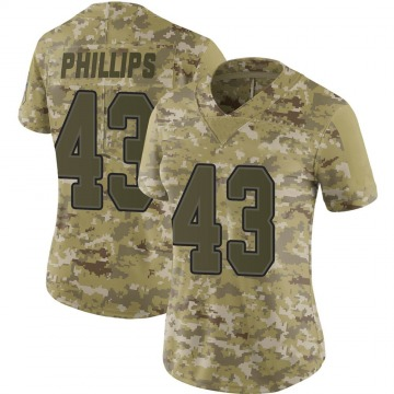 Women's Nike Buffalo Bills Del'Shawn Phillips Camo 2018 Salute to Service Jersey - Limited